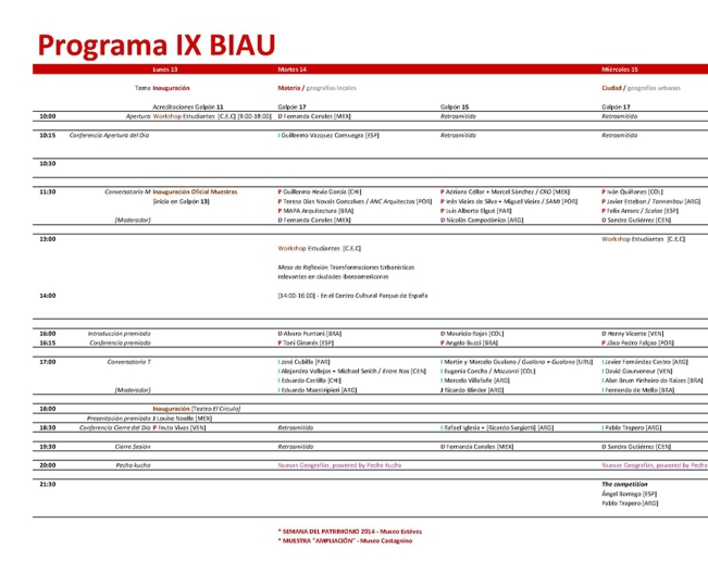 IX-BIAU-programa a